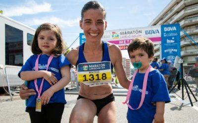 Beatriz Morillo nuevo récord de Medio Maratón con carrito de dos niños