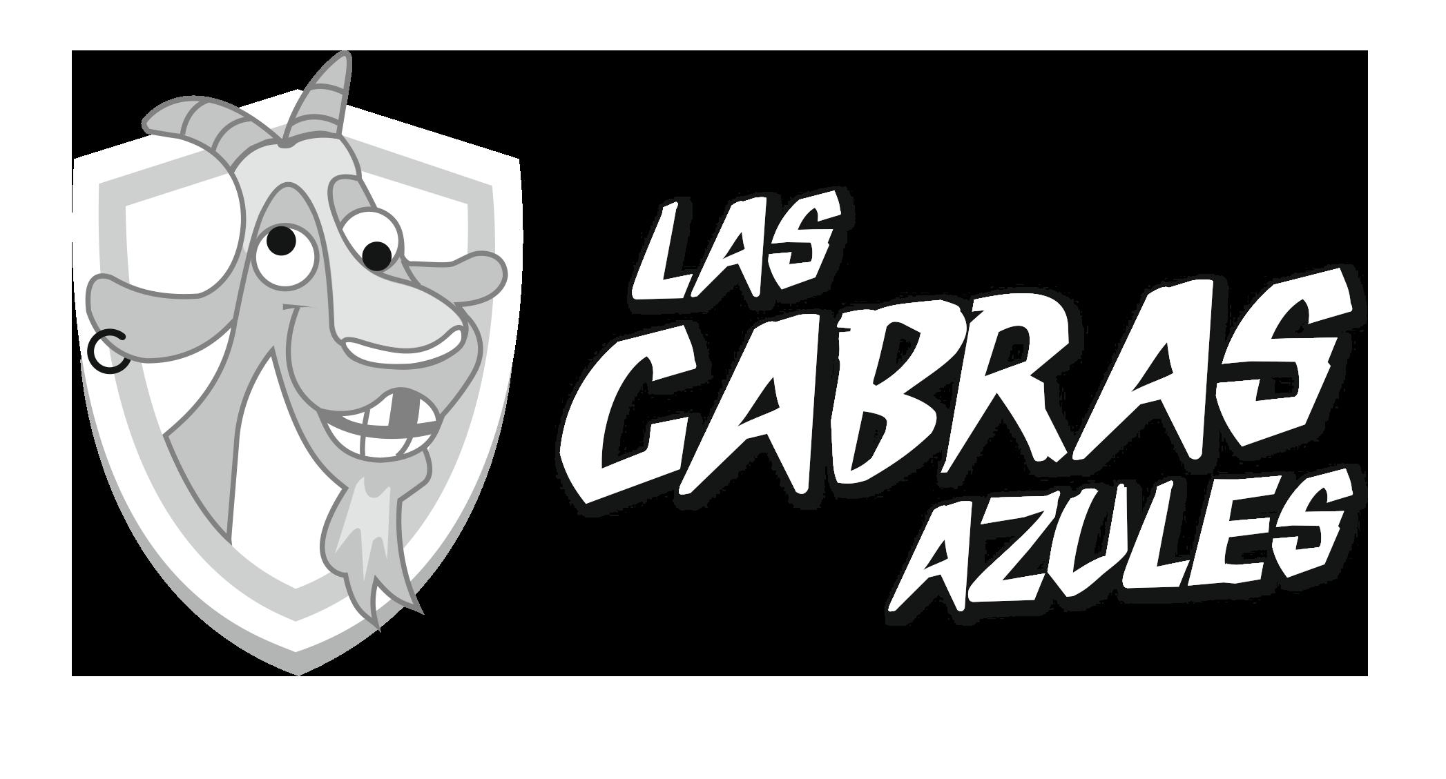 Logo blanco Las Cabras Azules