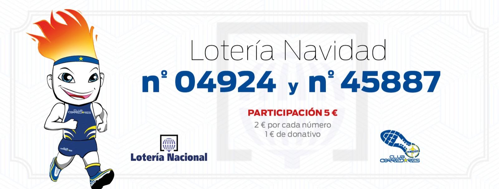 Papeletas Loteria de Navidad Club Corredores 2020